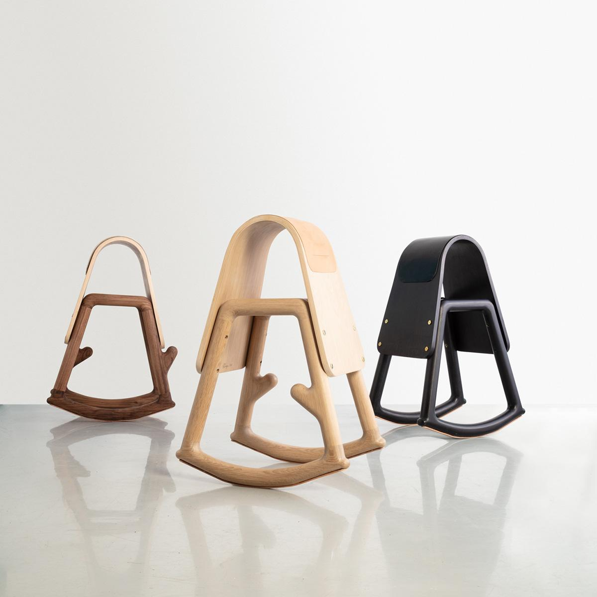 Sinmi rocking stools by Norman Teague