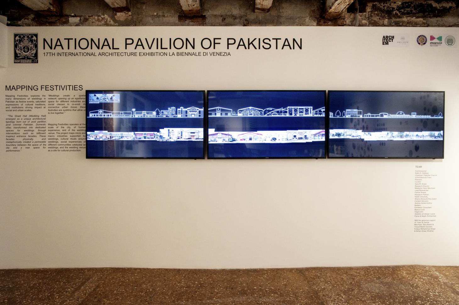 pakistan pavilion includes screened materials at the 2021 Venice architecture biennale