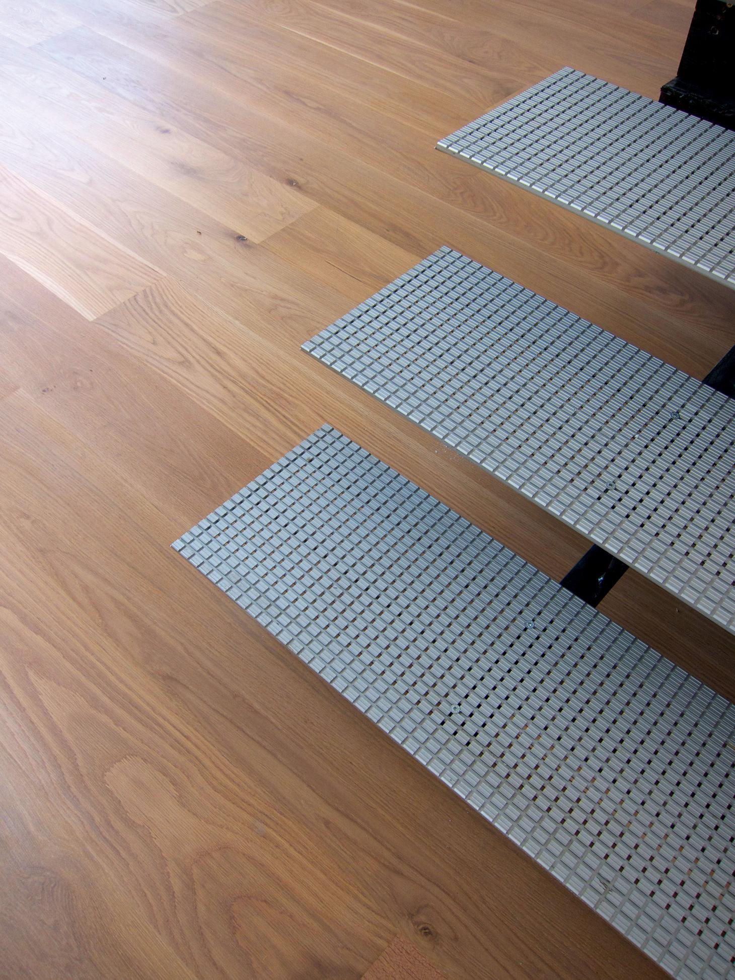 Engineered ply floorboards at Langlands & Bell Kent house studio