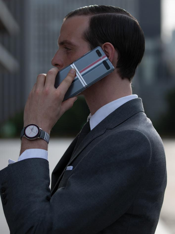 Thom Browne Flips The Lid For Samsung S Latest Folding Phone Wallpaper