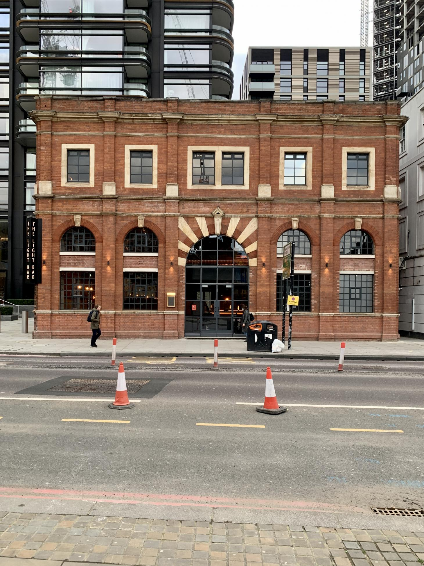 The Light Bar in Shoreditch has recently reopened, seen here a hero exterior