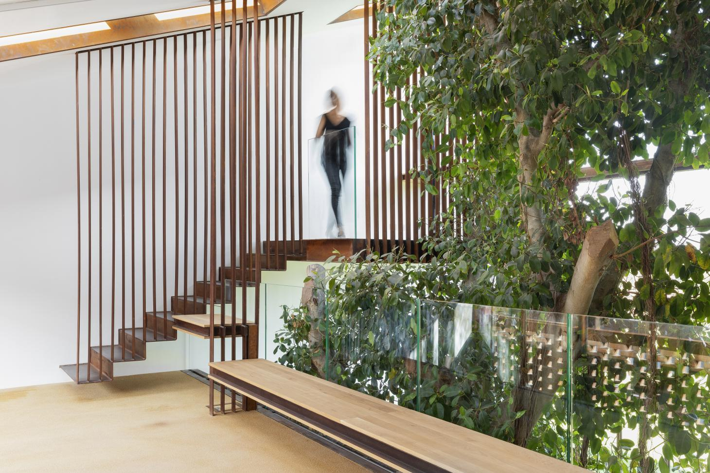 staircase and greenery at Greenary by Carlo Ratti