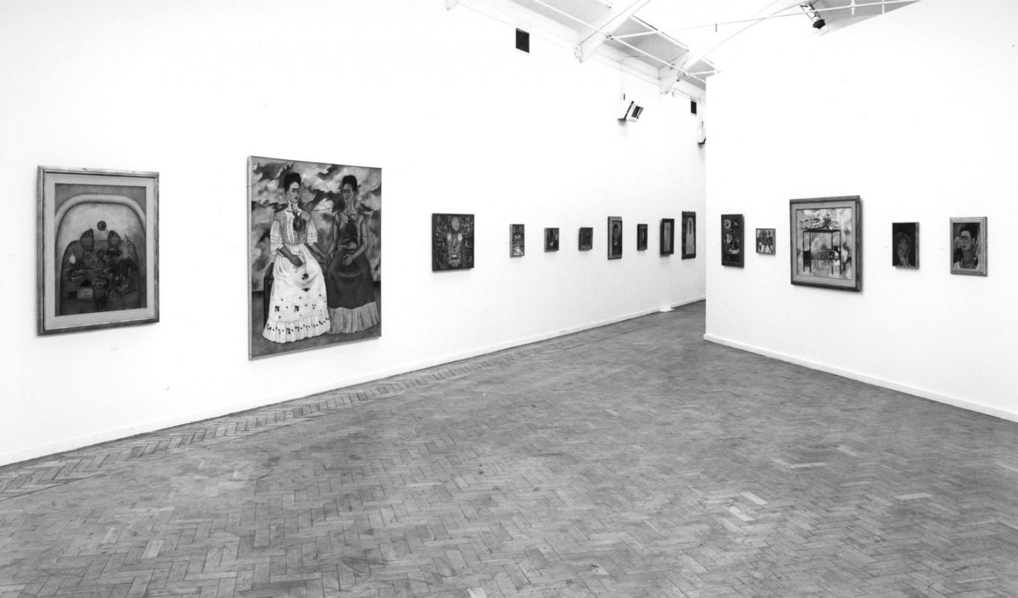 Installation view of Frida Kahlo, 1982 at Whitechapel Gallery London