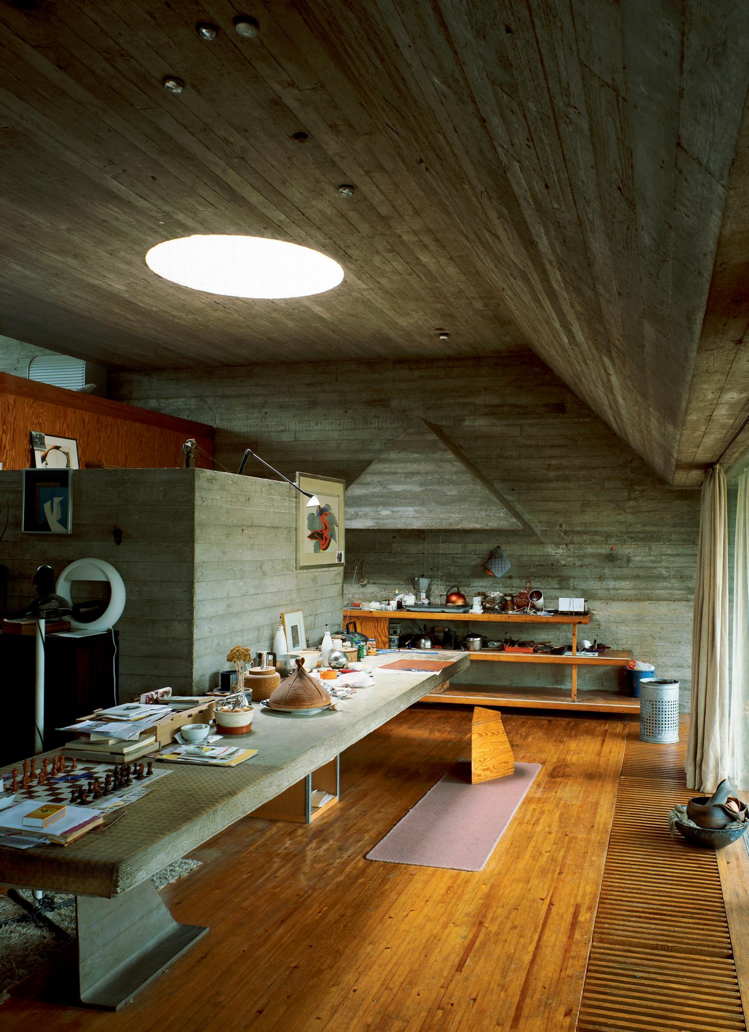 Kitchen and dining area of the Van Wassenhove house