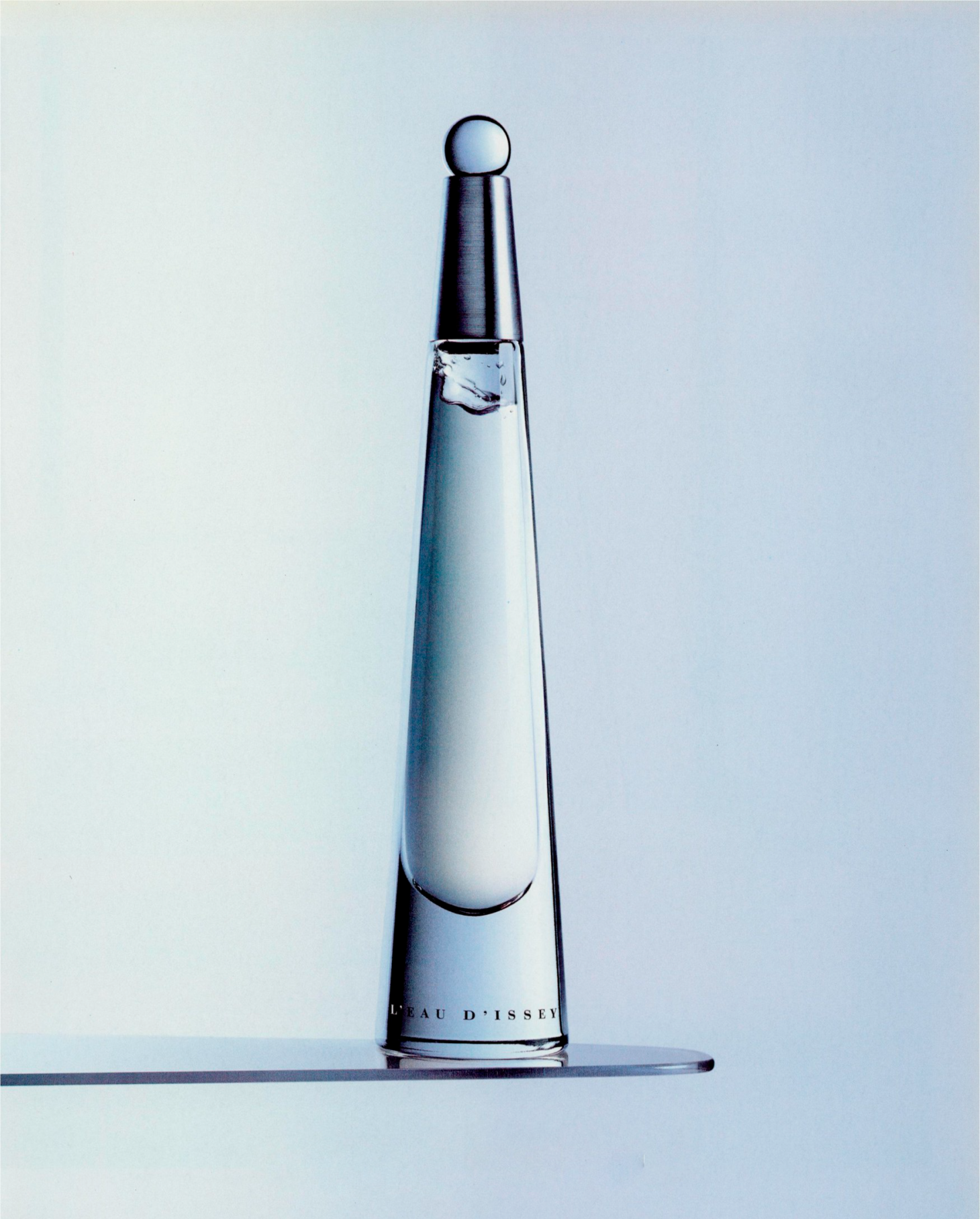 An original campaign image forL'eau d'Issey, the revolutionary perfume by Issey Miyake