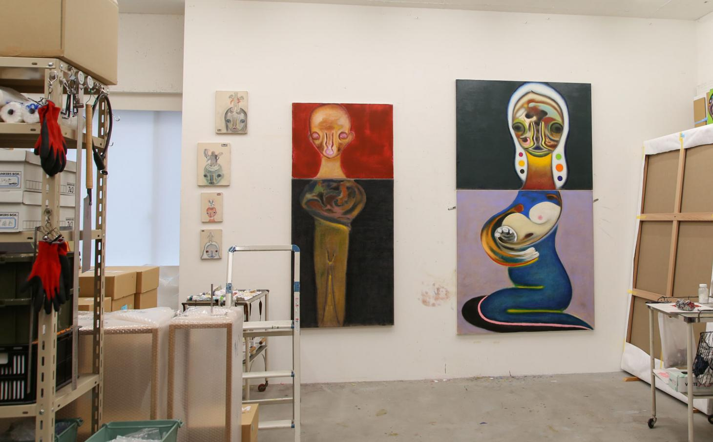 inside Izumi Kato's Tokyo studio with work for his current show at Perrotin New York