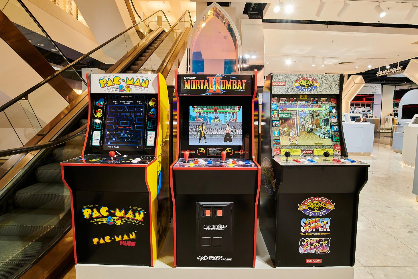 Retro video games at the Playhouse by Smartech space at Selfridges