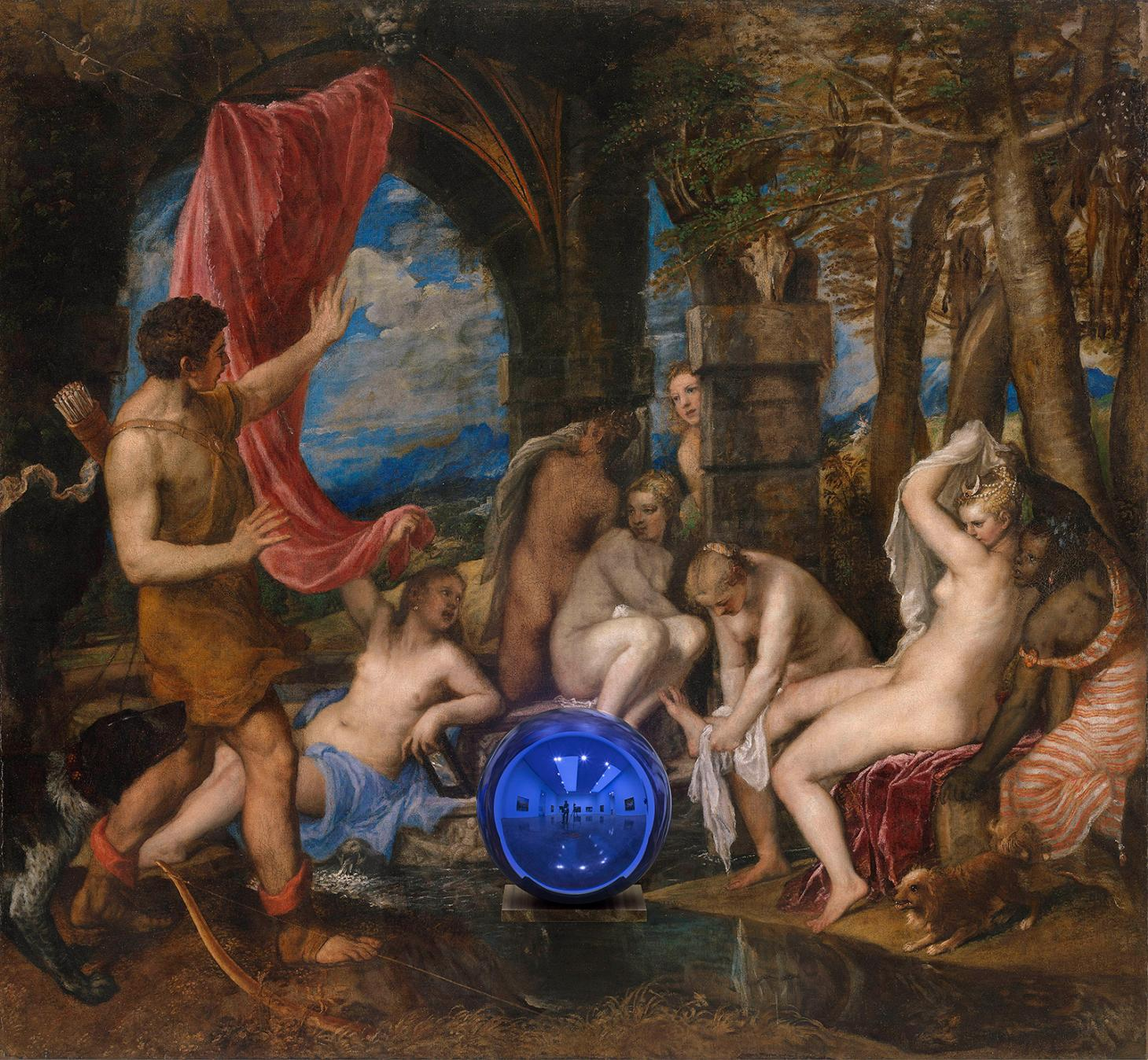 Gazing Ball (Titian Diana and Actaeon), 2014–15, by Jeff Koons