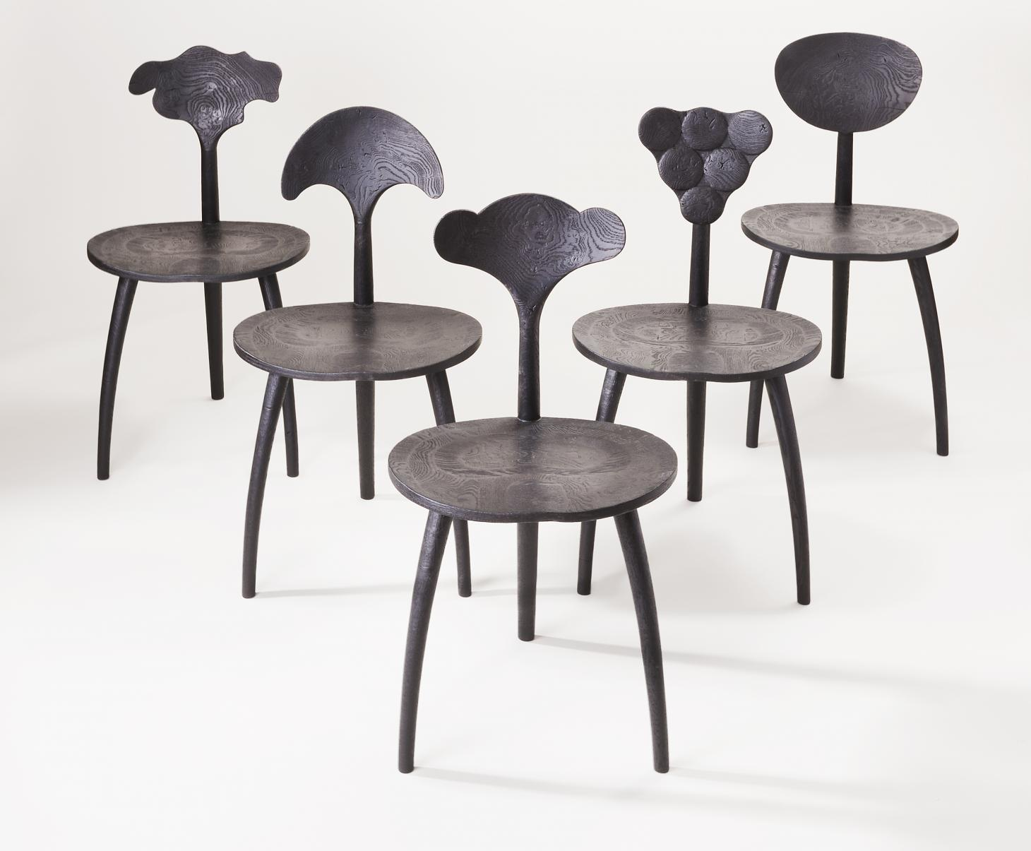 John Makepeace, Trine Chairs, Organic Collection, 2017