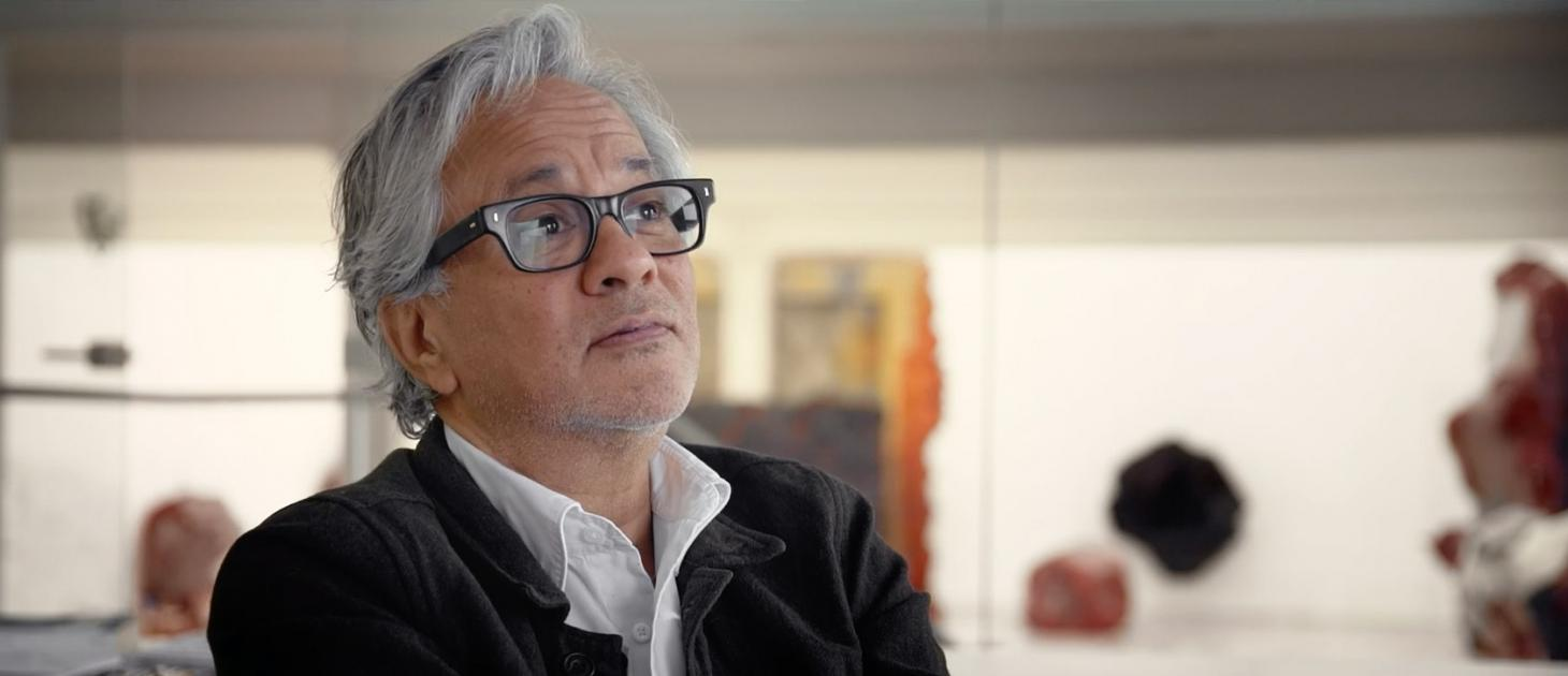Anish Kapoor, as seen in Martina Margaux Cozzi's new documentary, Under the Skin
