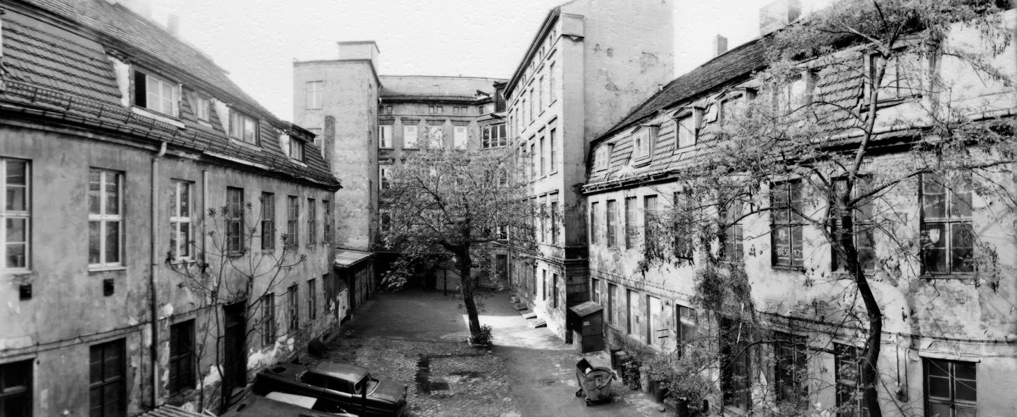 The Courtyard of Kunst-Werke Berlin, 1991, the year the former margarine factory became an art space