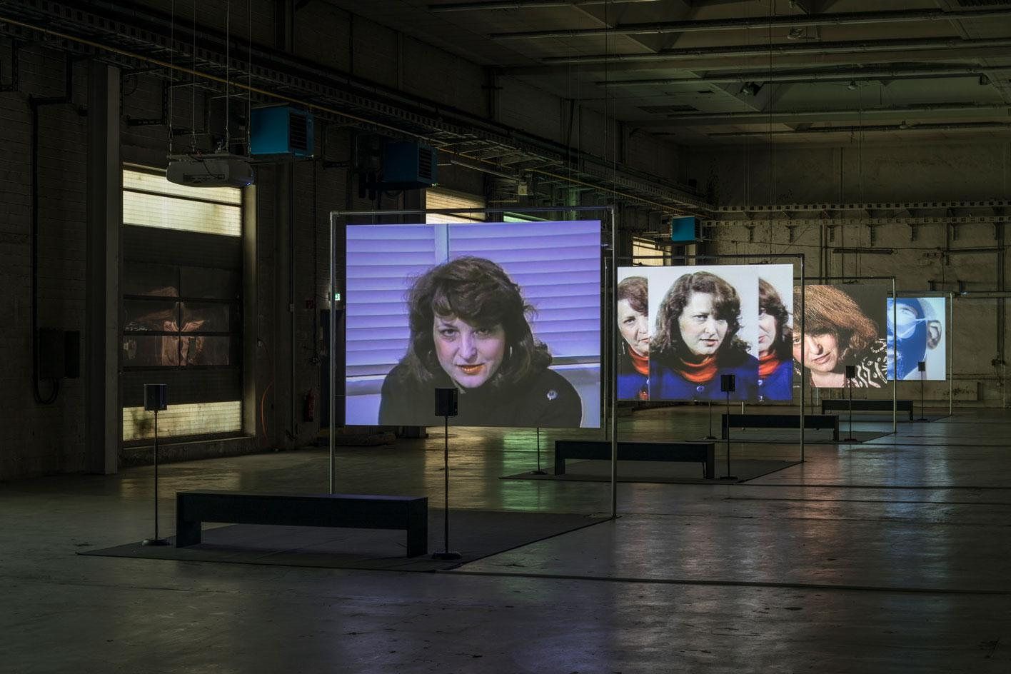Lynn Hershman Leeson, First Person Plural, the Electronic Diaries of Lynn Hershman at the KW Institute for Contemporary Art in Berlin. One of the most amazing gallery transformations in Europe