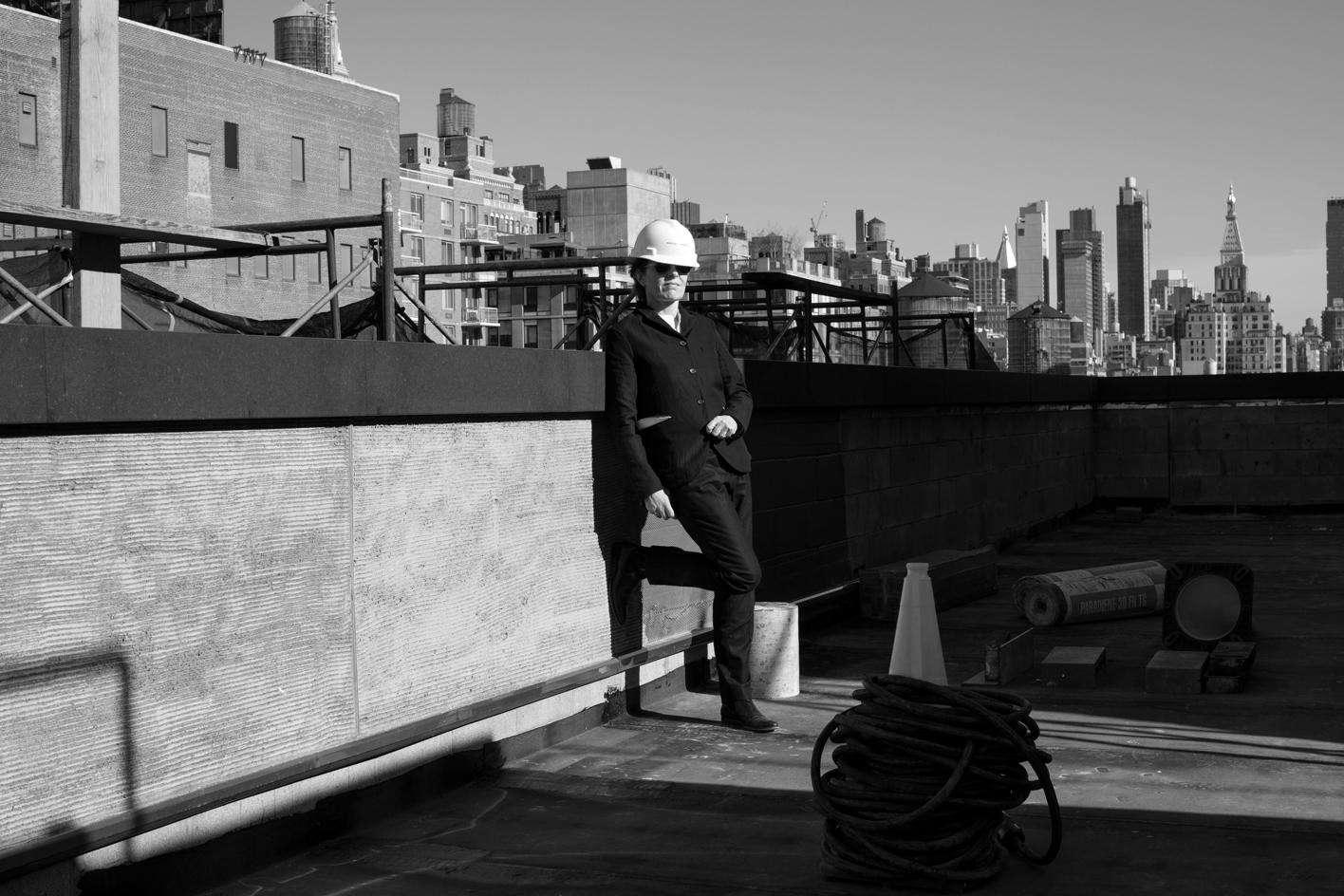 Annabelle Selldorf on the rooftop of Hauser & Wirth's New York gallery