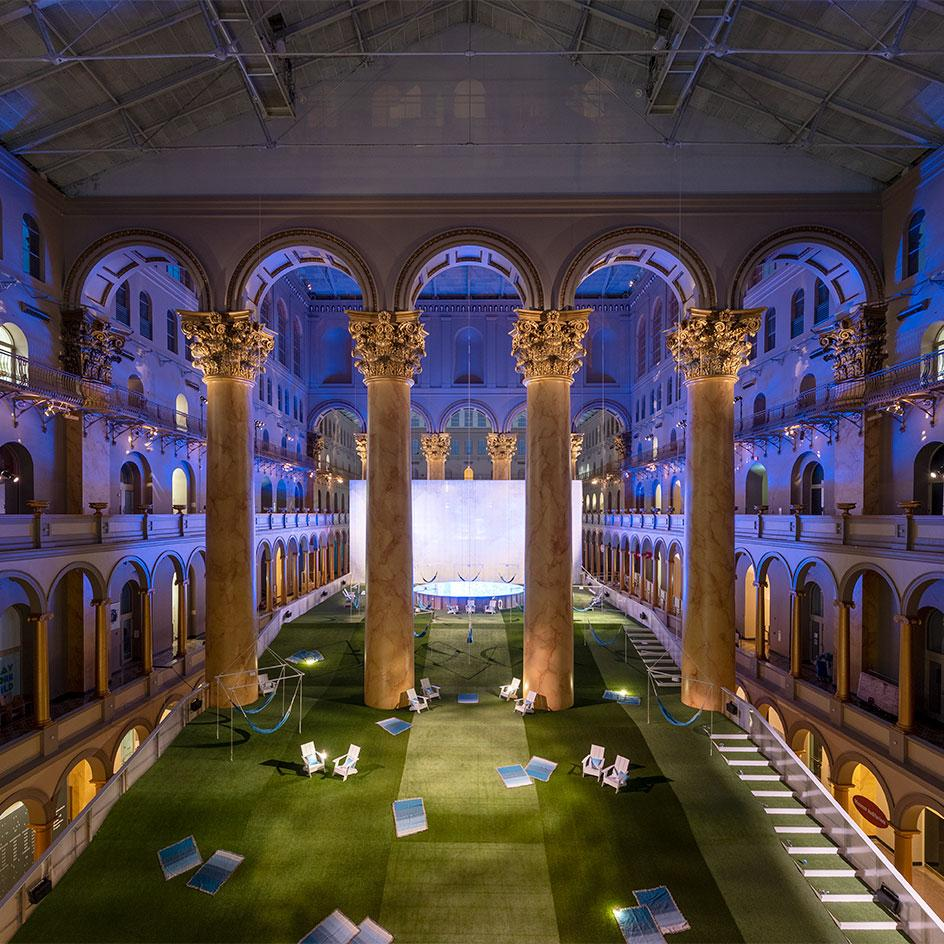 Lawn at National Building Museum by Rockwell Lab.