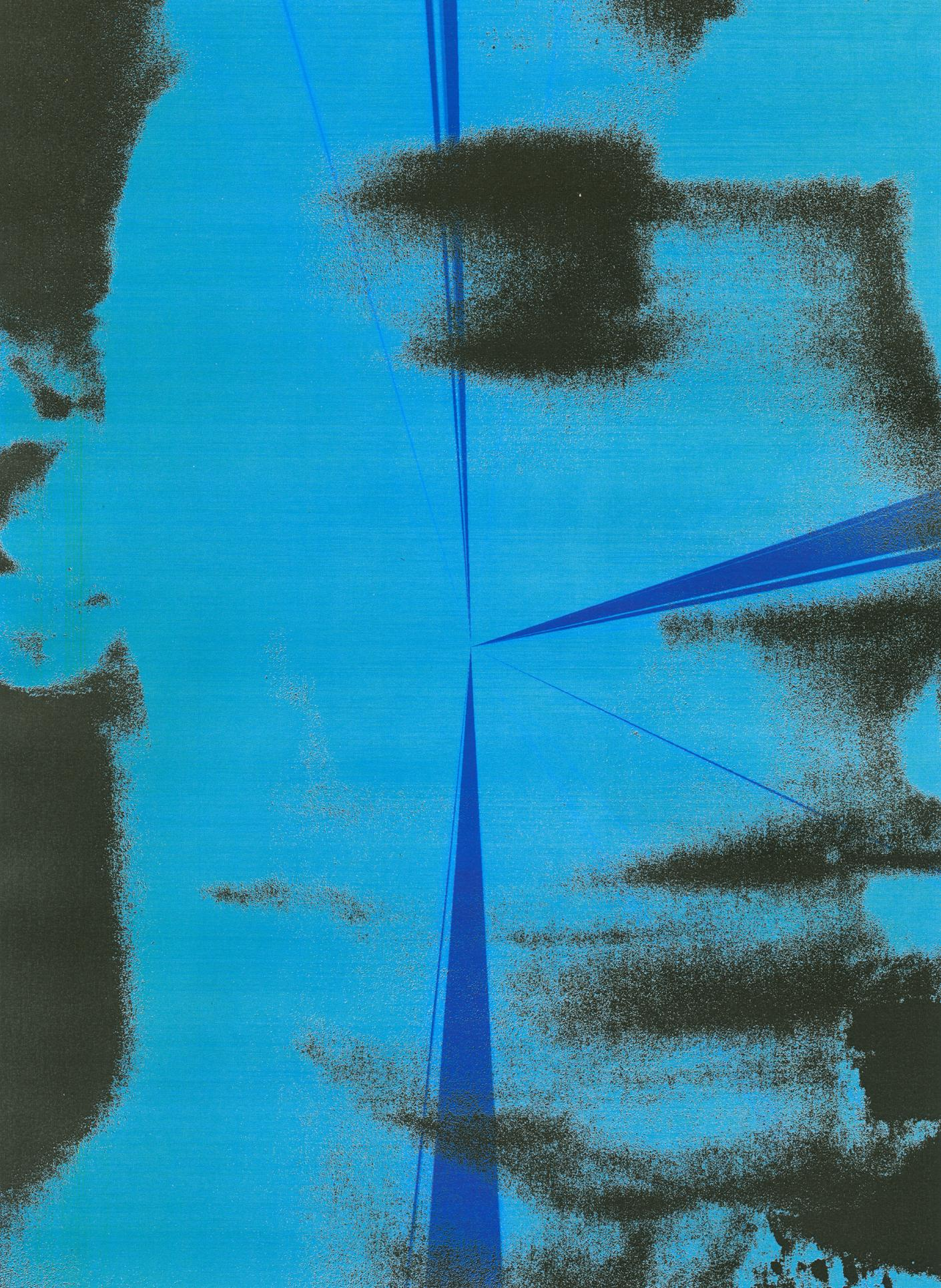 Lea Colombo face illuminated by blue from Colours of My Body