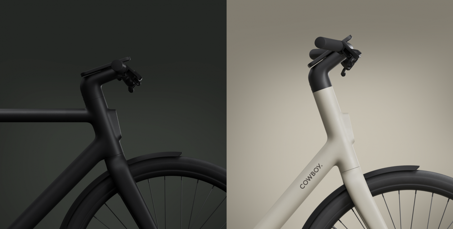 The Cowboy 4 e-bike is available in two frame styles