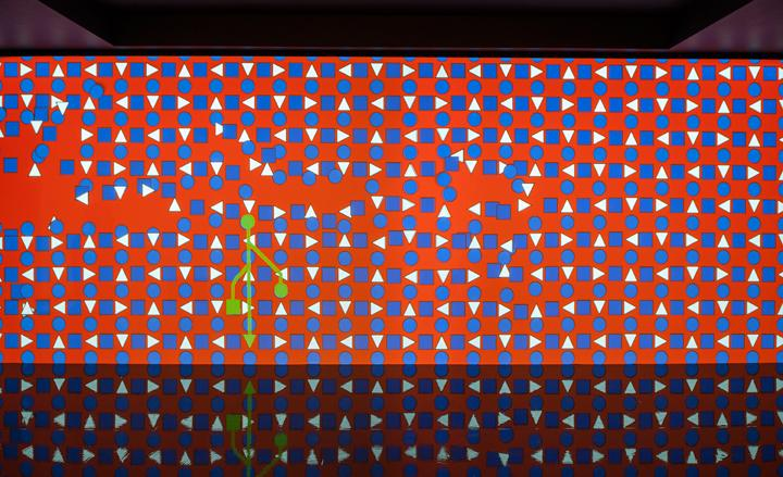 Hermès '8 Ties' digital installation by Miguel Chevalier at Selfridges, London