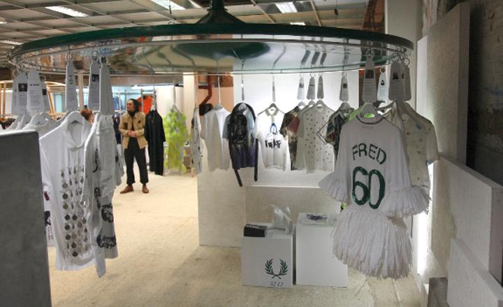 Fred Perry presents artist-designed shirts at Dover Street Market, London