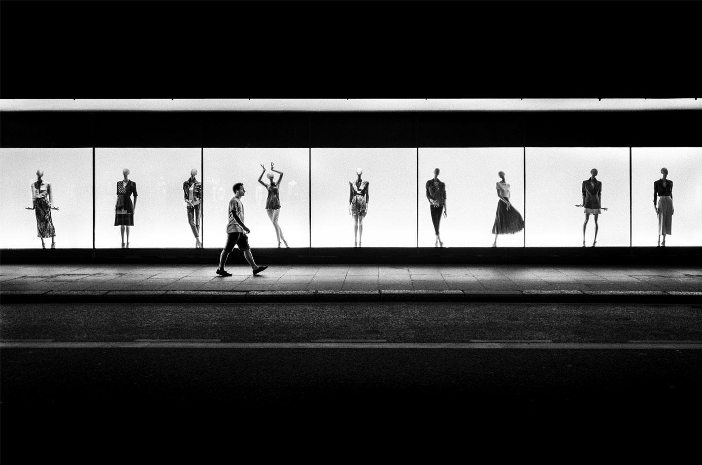 Striking a Pose, byAlan Schaller. Part of'Life Goes On' at Leica Gallery