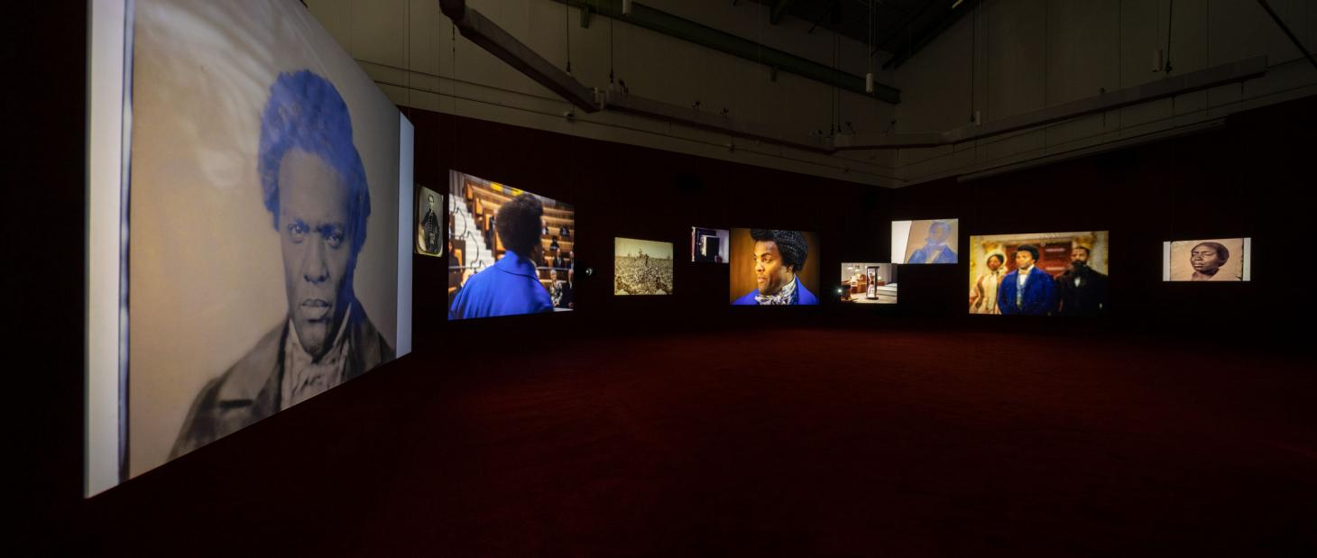 Installation view, Lessons of the Hour, McEvoy Foundation for the Arts, San Francisco by Isaac Julien