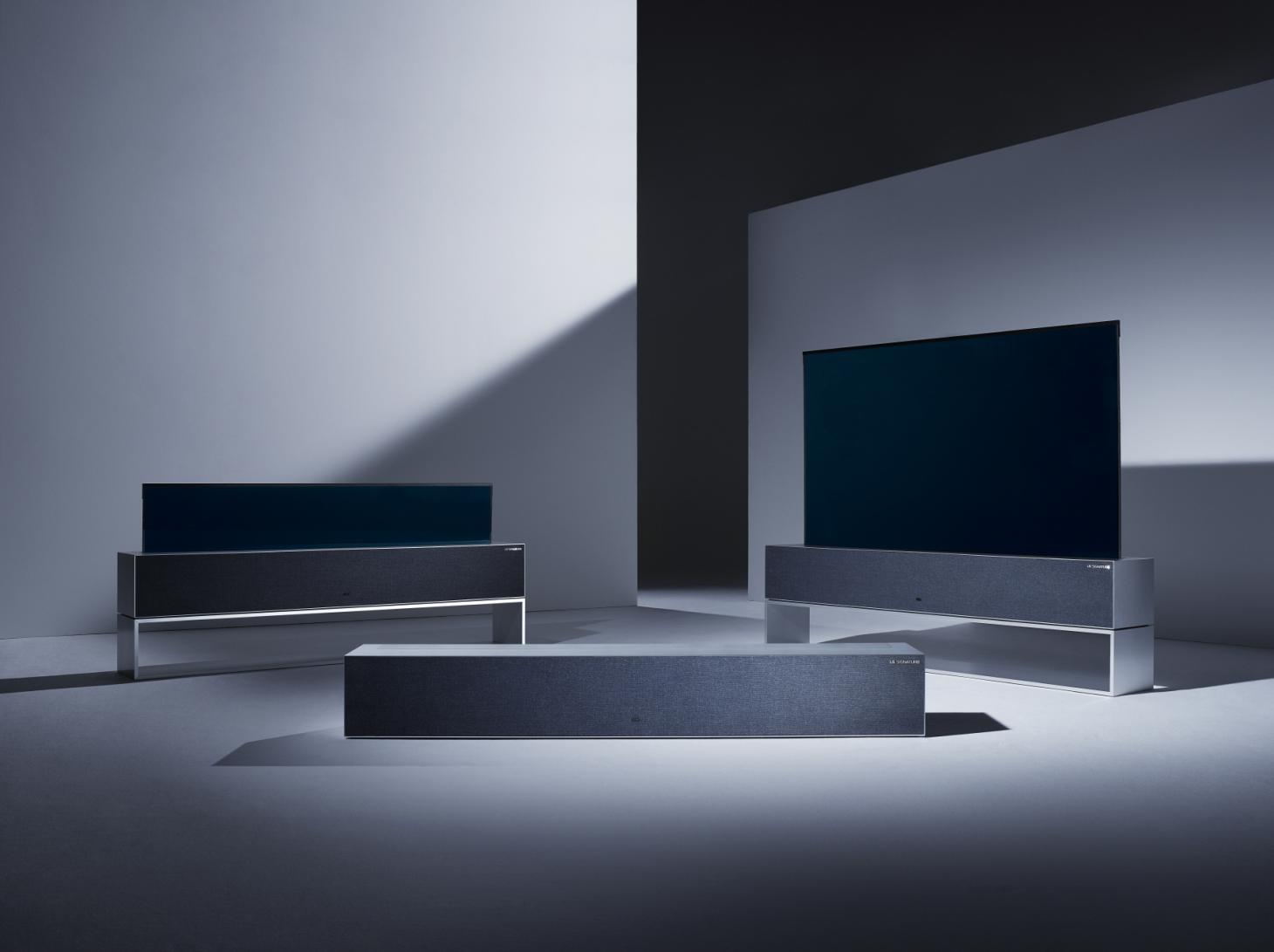 LG OLED R TV with Rollable Design