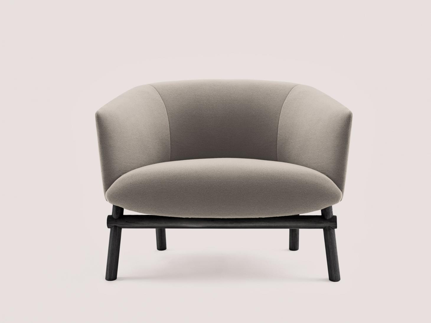 Chair by Federica biasi for Gallotti e Radice with soft forms in beige
