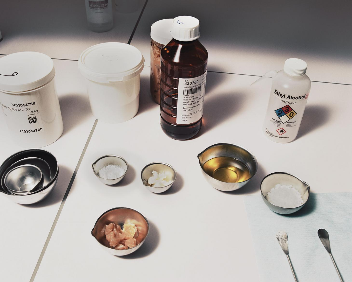Dior cosmetic materials used by researchers at Helios