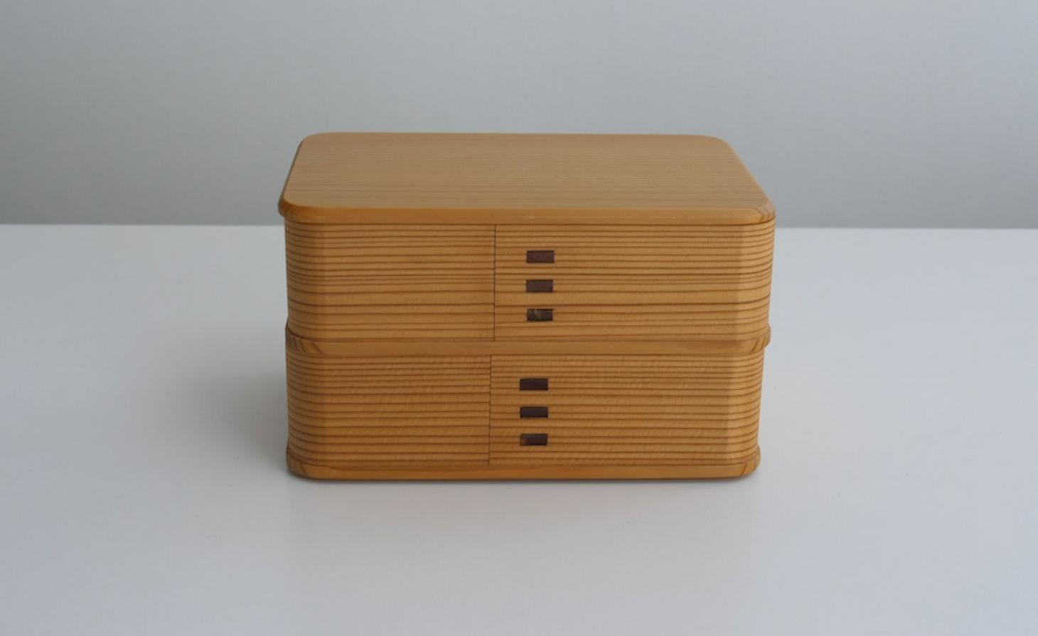 Margaret Howell Affinities – 50 Years of Design film still of wooden box
