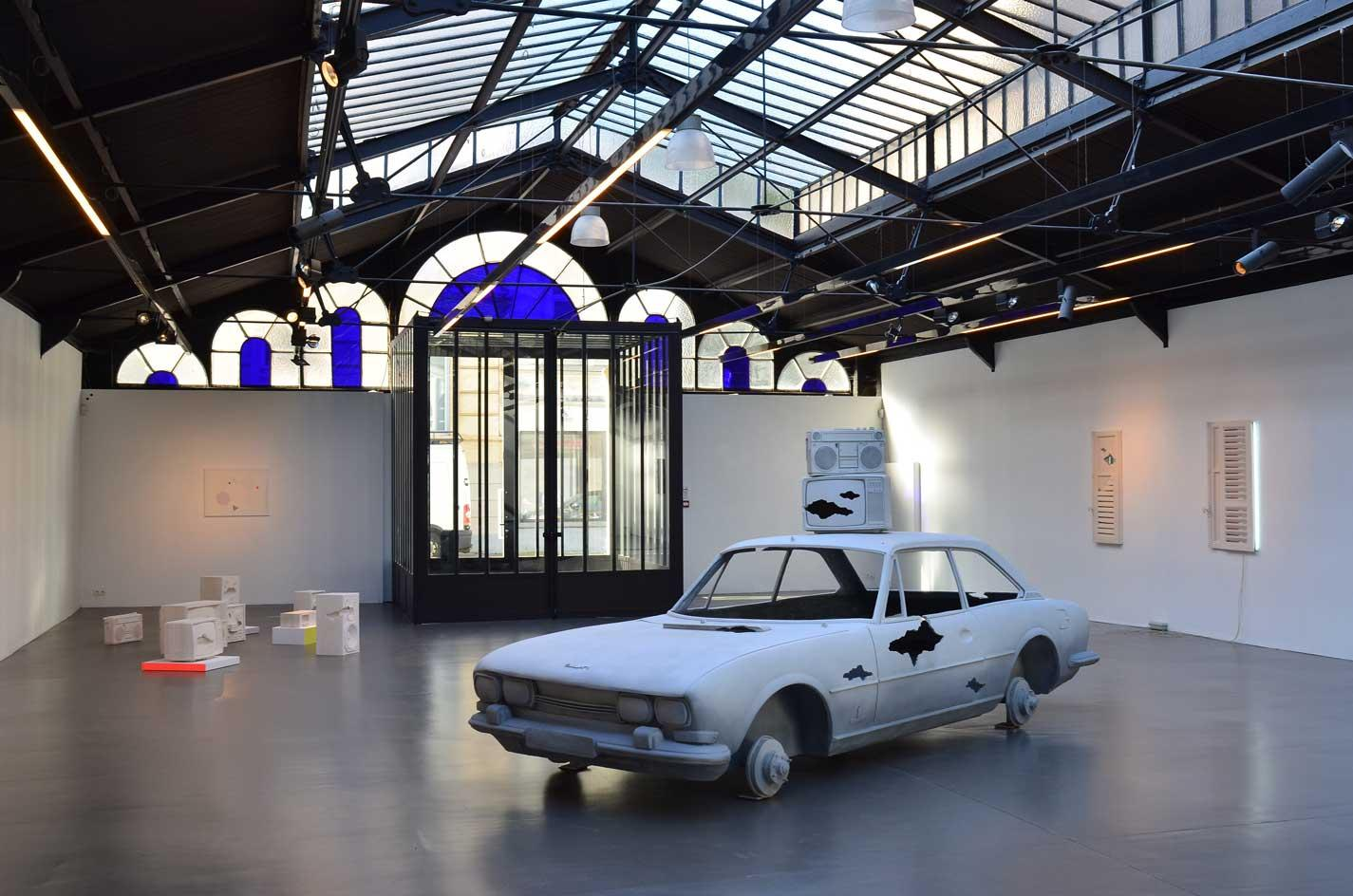 Exhibition view Martine Feipel & Jean Bechameil 'A Hundred Hours from Home' at La Patinoire Royale, a former roller skating rink in Brussels