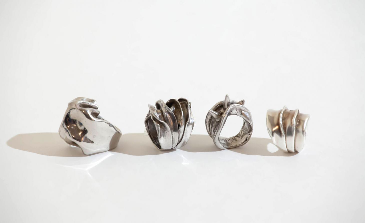 Rings by emerging jewellery designer Mason Feyz