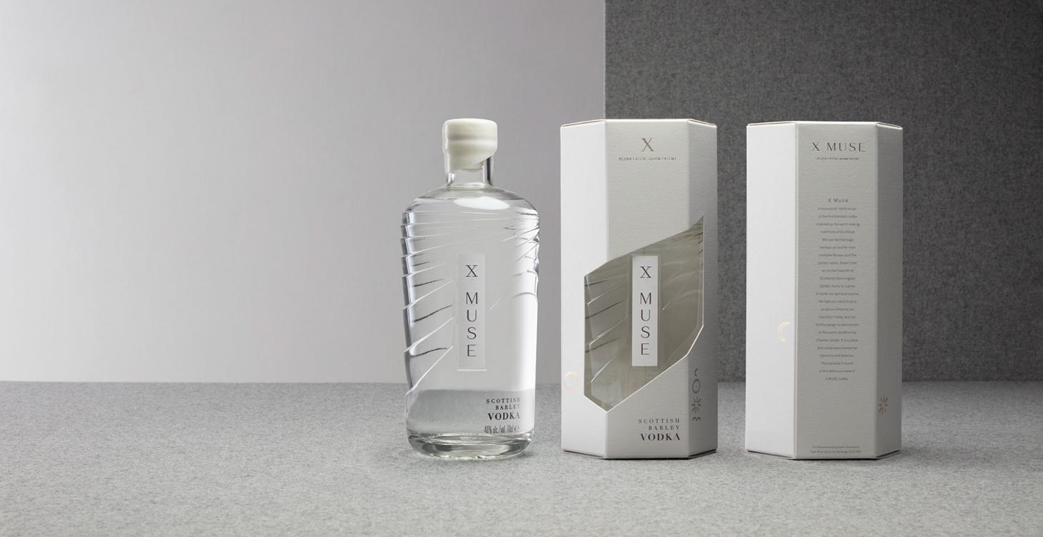 While packaging designersStranger & Stranger created the X Musebottle shape, graphic design studio APFEL lead the brand identity, inspired by alchemy, sacred geometry, and the art atJupiter Artland