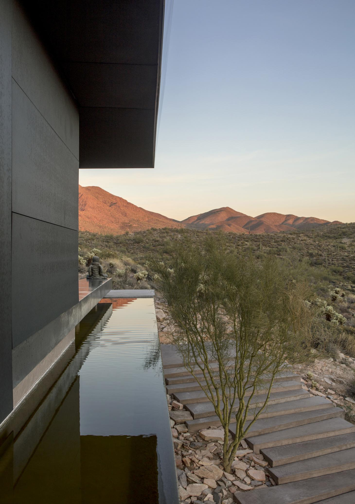 The landscape framed from Hidden Valley house in Arizona
