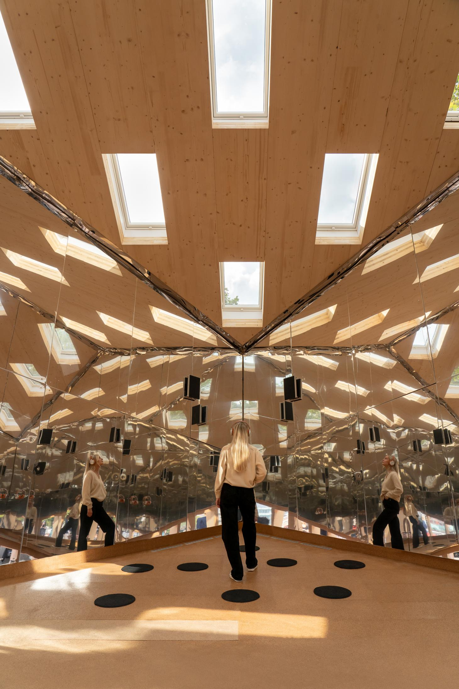 The interior of The Cube by VELUX