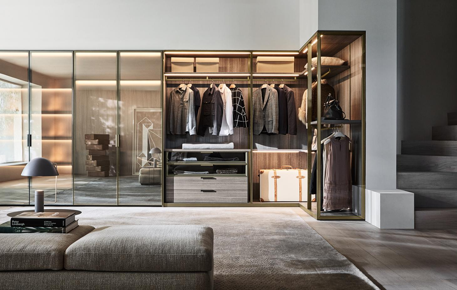 Gliss Master walk-in closet system by Vincent Van Duysen for Molenti & C