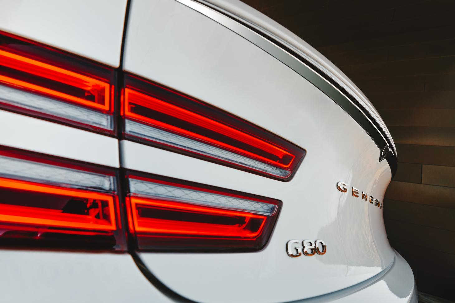 Genesis G80 detail view of the exterior car