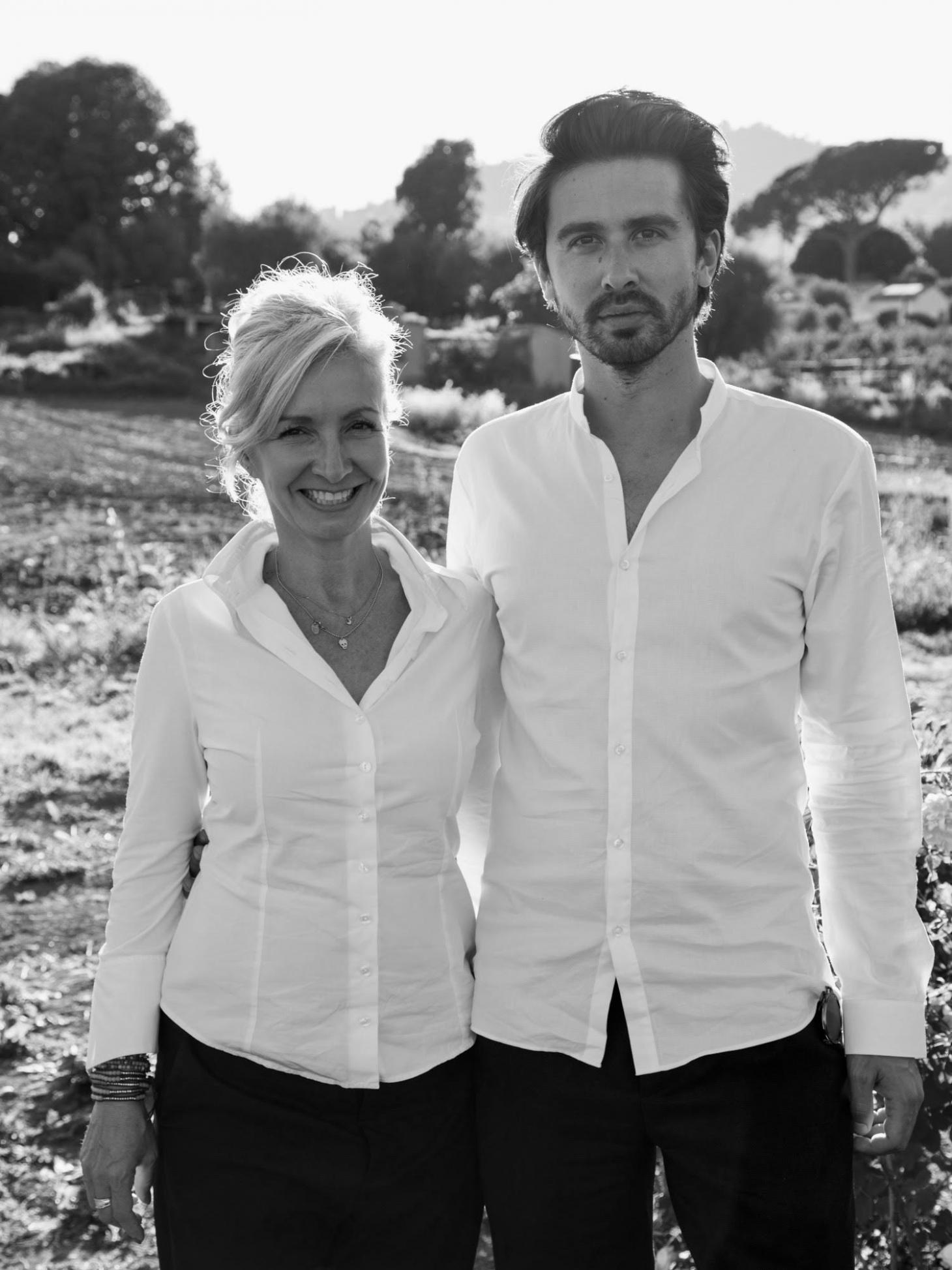Black and white image of Ormaie founders Marie-Lise Jonak and Baptiste Bouygue