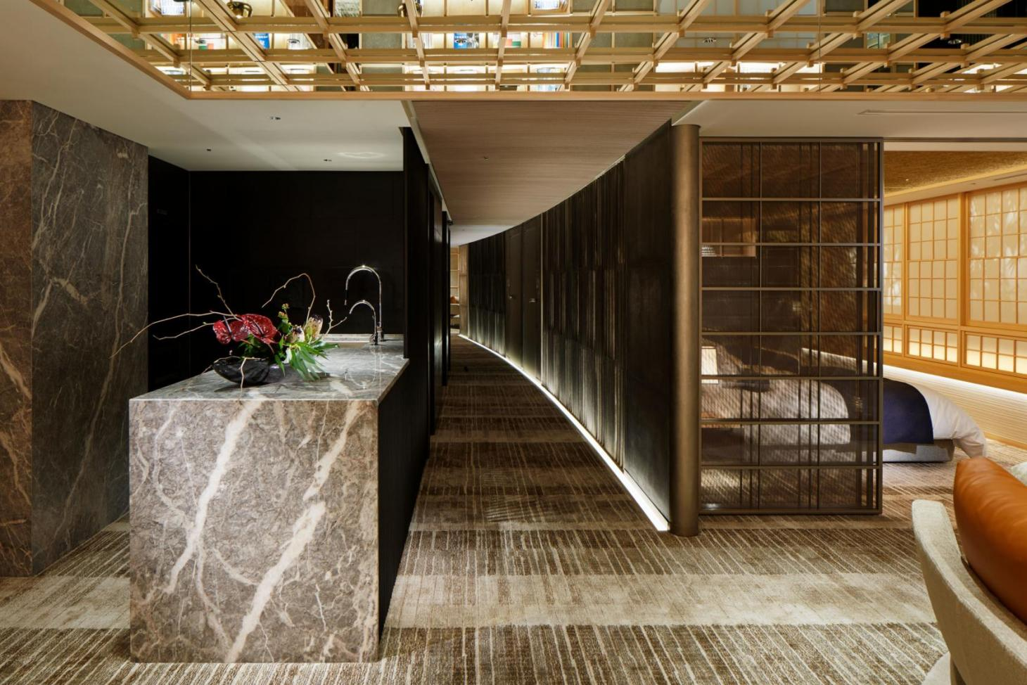 An Nagoya apartment features hand woven carpets