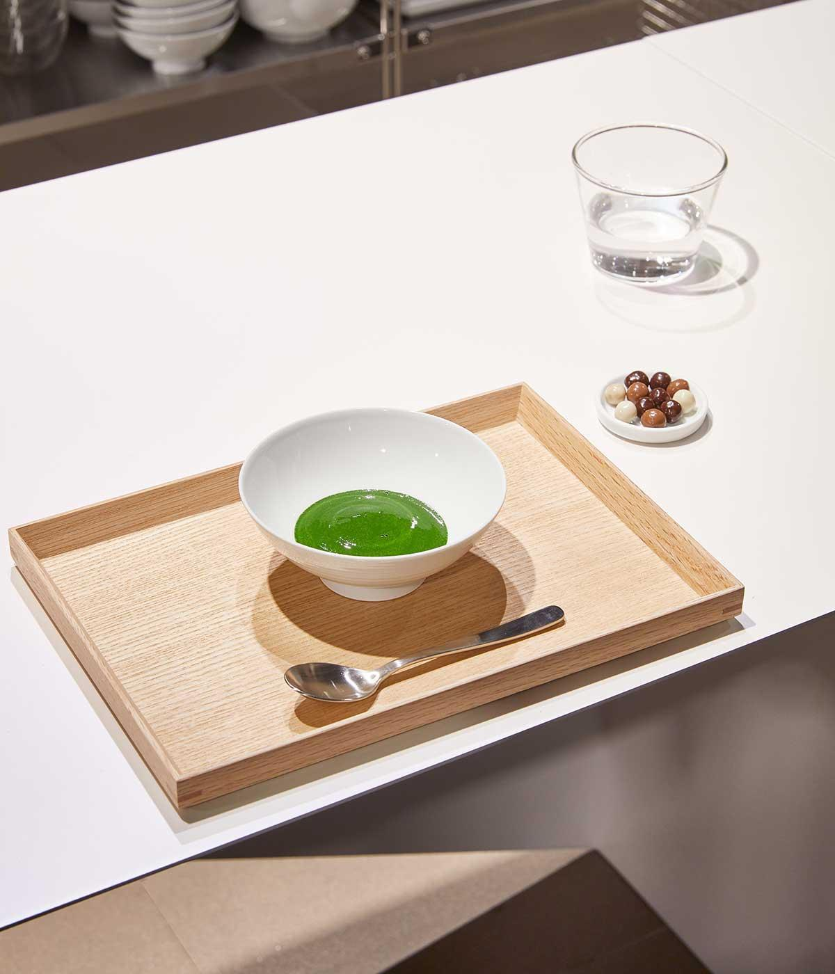 Matcha tea at the Ohh Cha Bar at Muji's Tottenham Court Road store