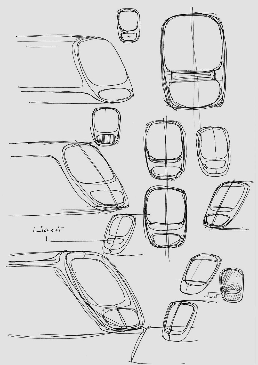 Ora ïto's first sketches of the new tram