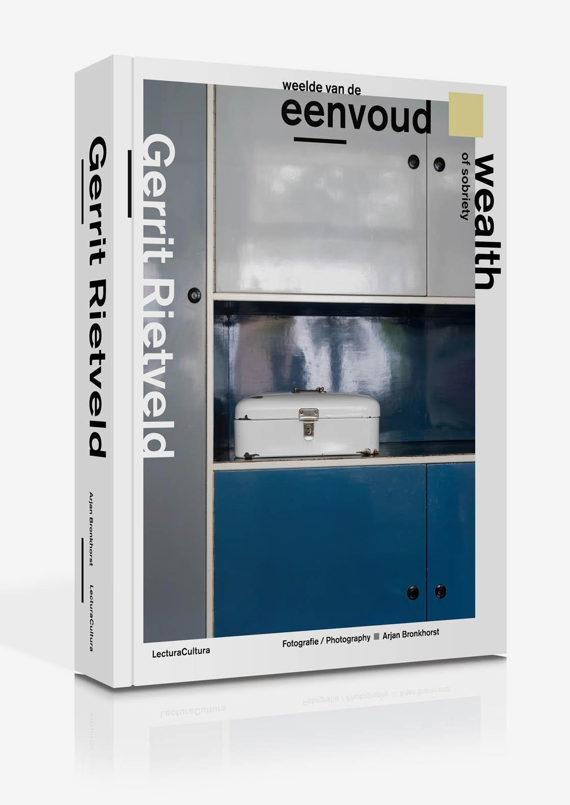 Book cover displaying a history of Gerrit Rietveld's modernist houses