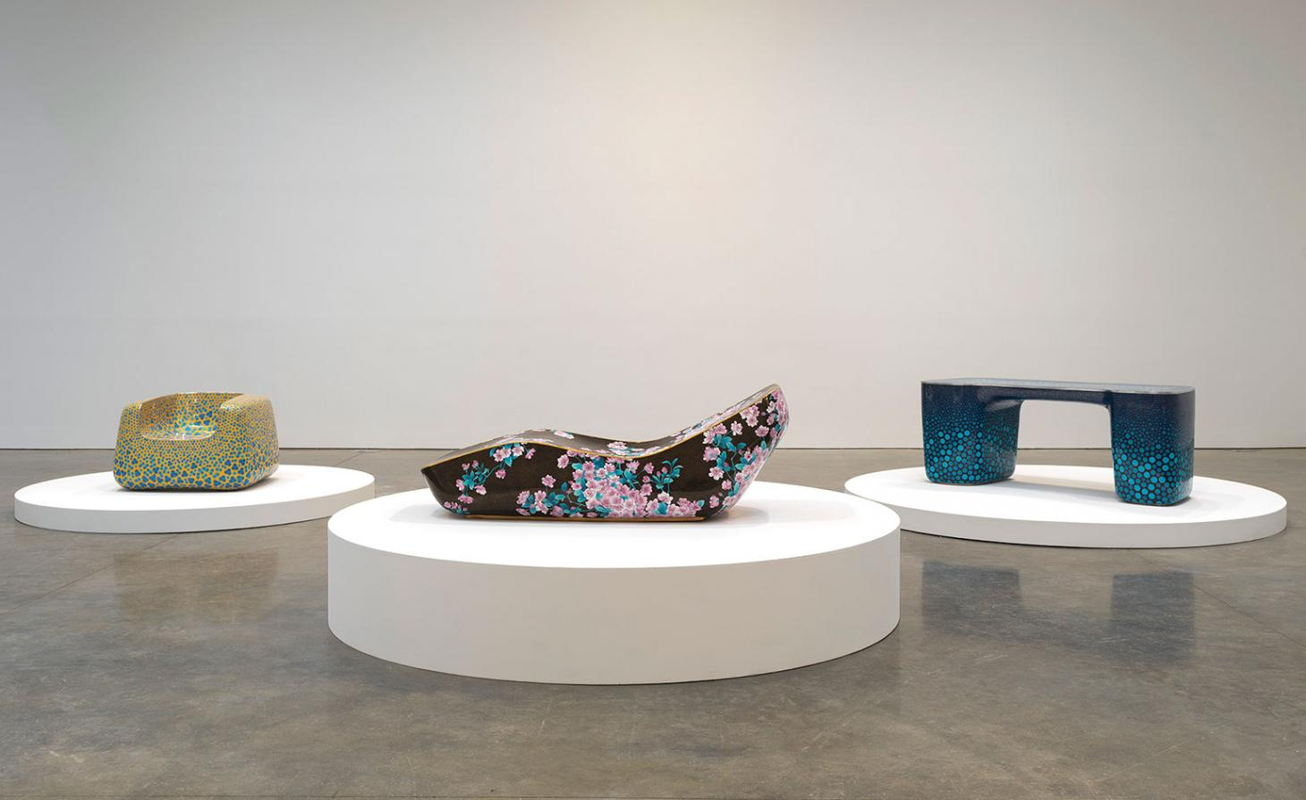 Cloisonne furniture in Marc Newson solo show at Gagosian
