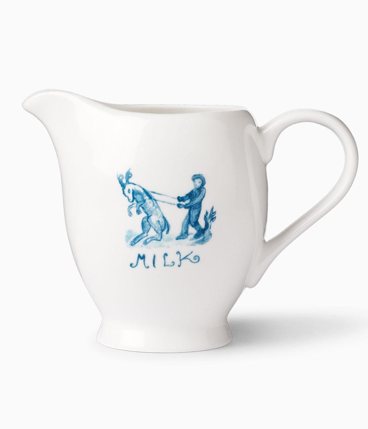 Up Jump the Devel milk jug, designed by songwirter Nick Cave