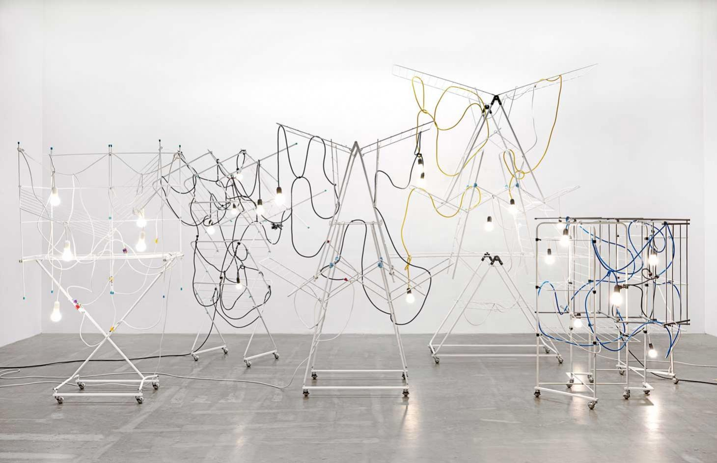 Haegue Yang,Non-Indépliables, nues 2010/2020, in 'Strange Attractors', at Tate St.Ives, as the artist discusses the influence of Sophie Taeuber-Arp on her work