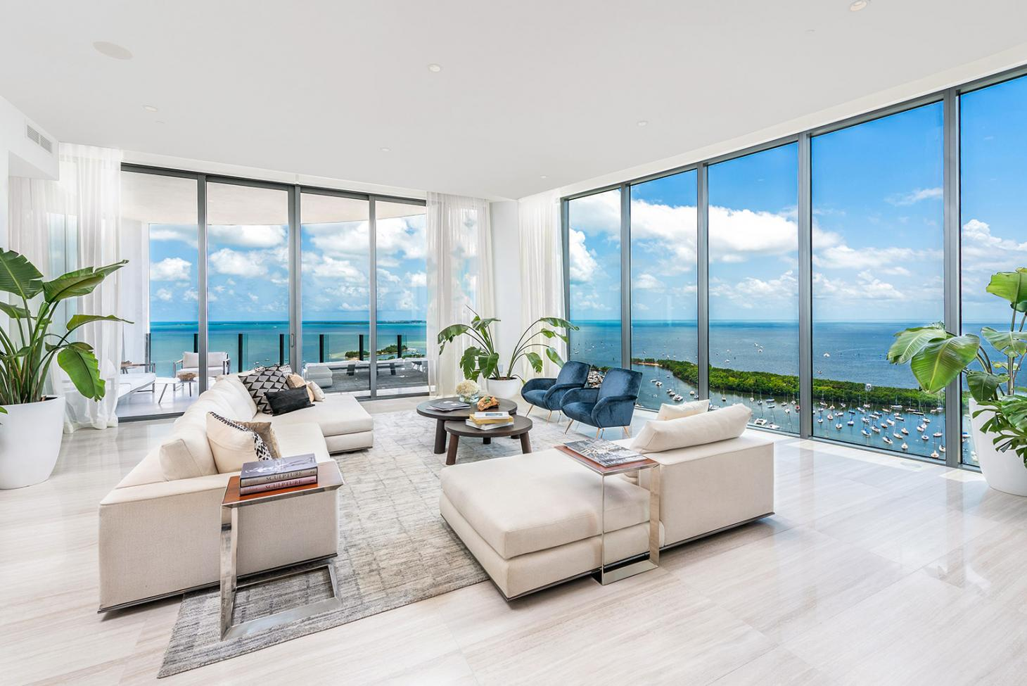 Penthouse interior at OMA's Park Grove, Miami