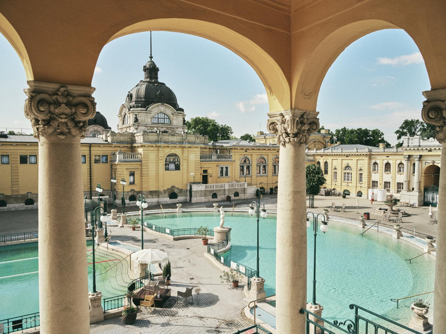 The Szechenyi Baths in Budapest built in 1913