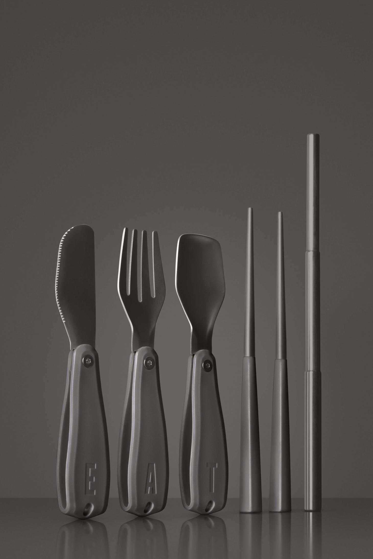 Otherware by Pharrell and Snarkitecture black cutlery