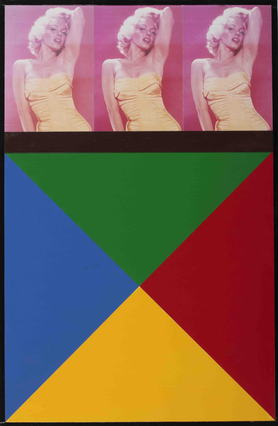 Peter Blake, M, M, 1997, photographs and enamel paint on board