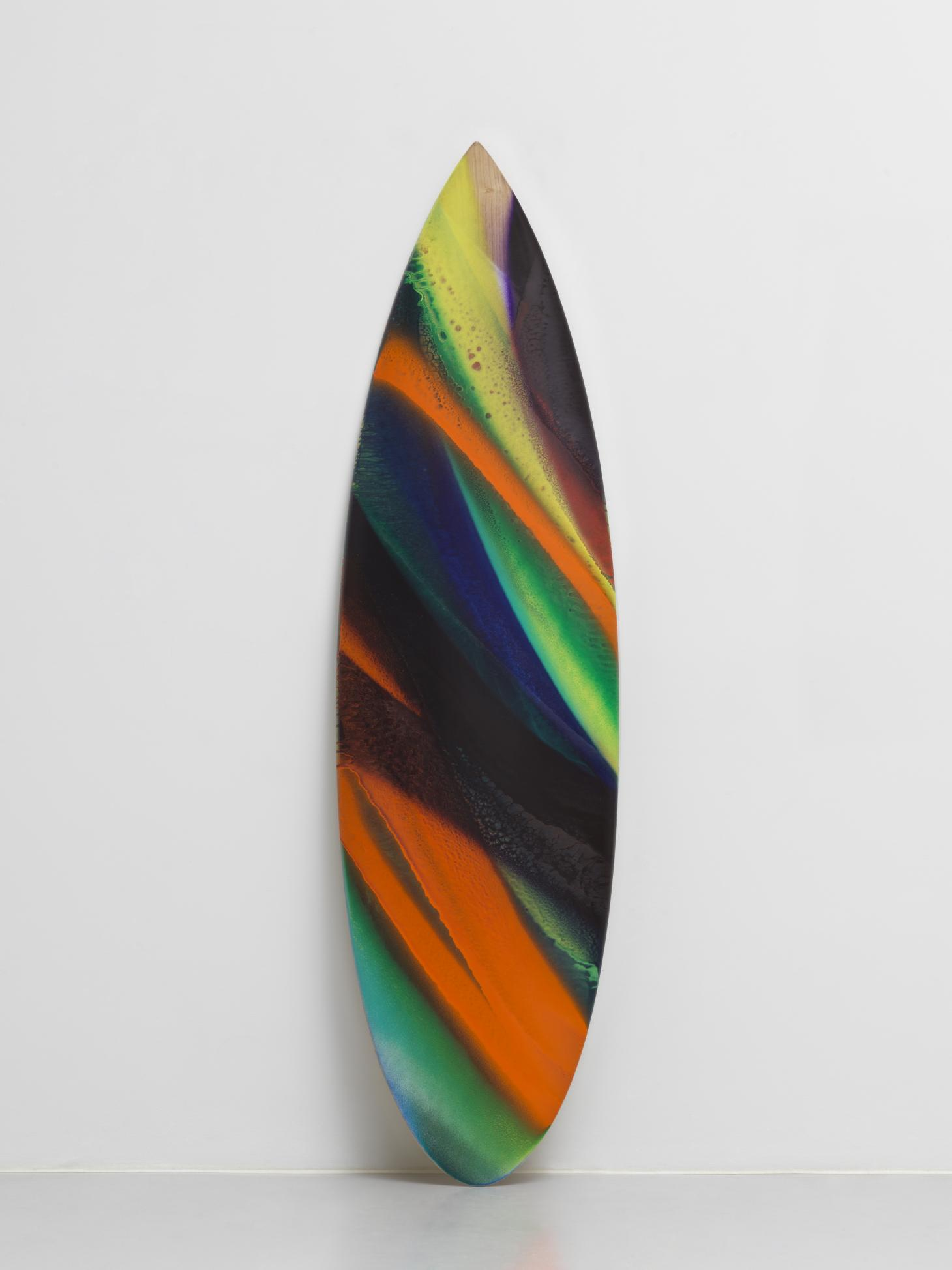 Katherina Grosse plastic recycles multicoloured surfboard