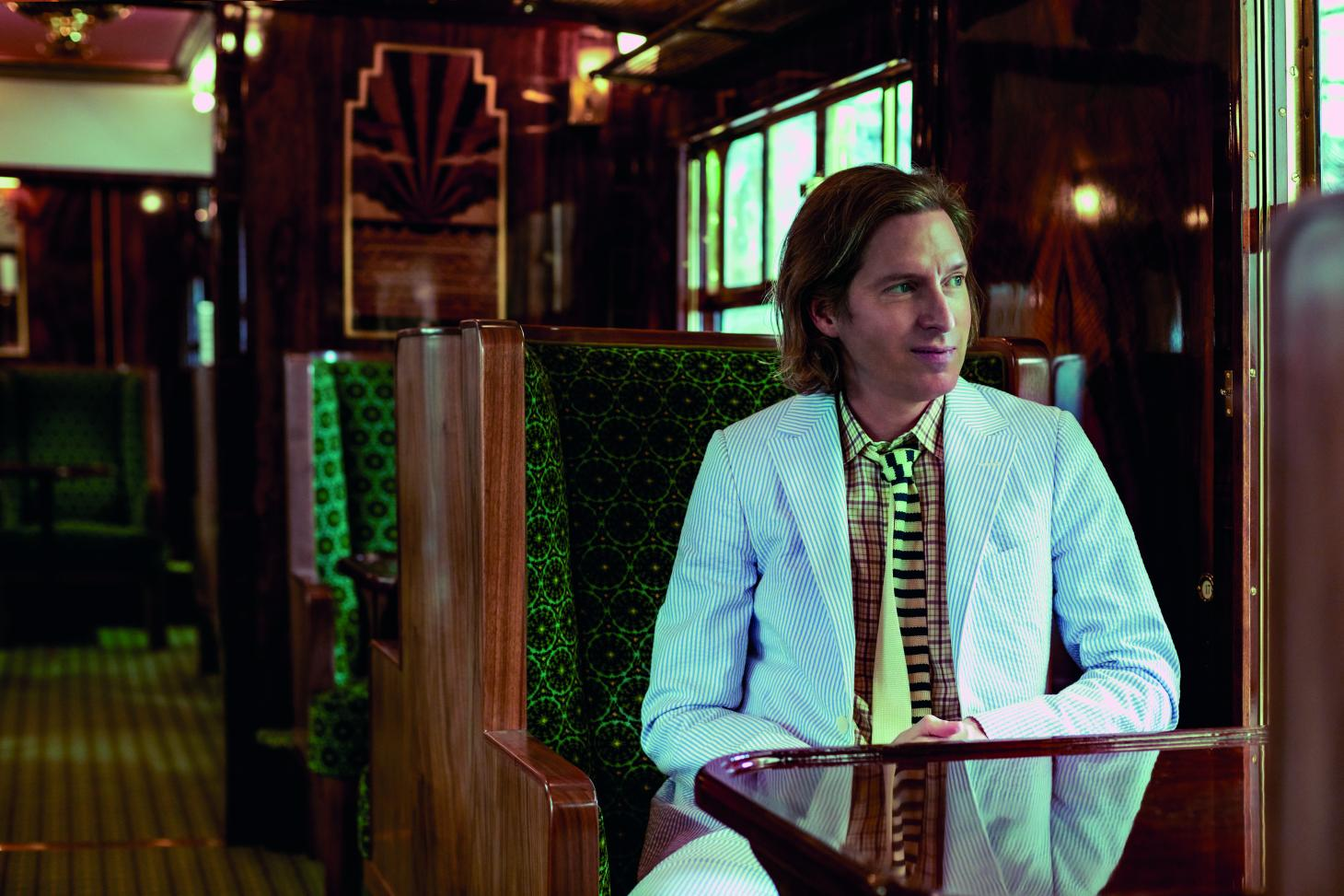Wes Anderson in the newly restored and renewed British Pullman Cygnus carriage