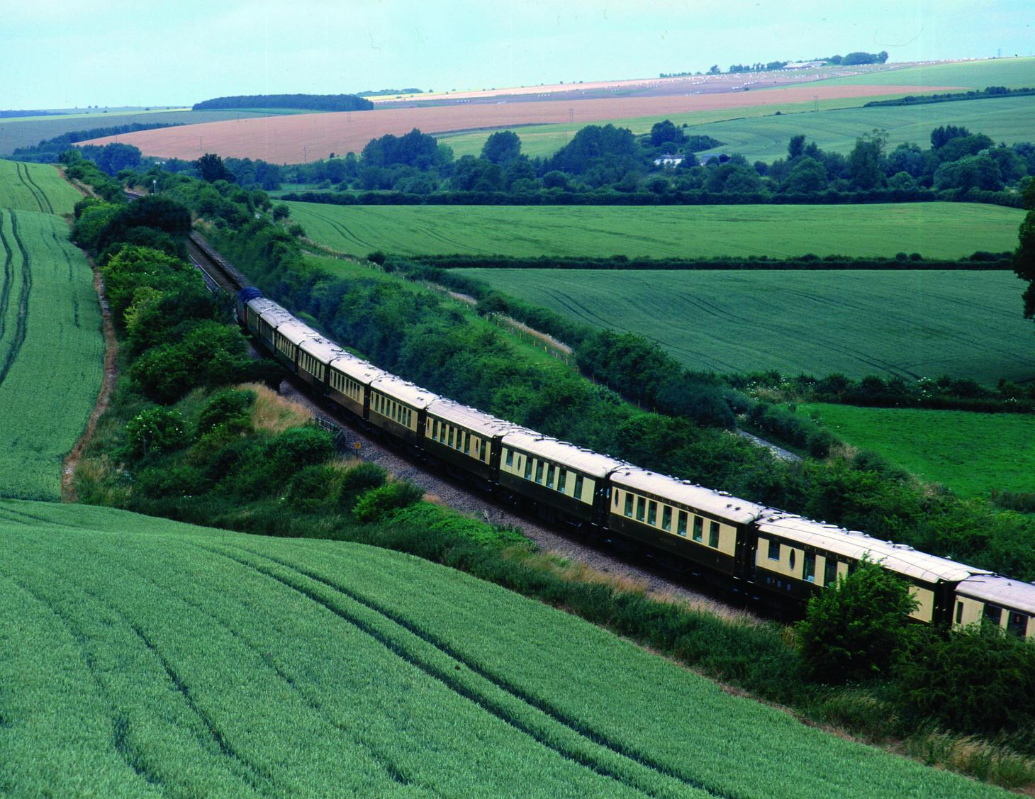 The Cygnus carriage is pulled by Belmond's British Pullman
